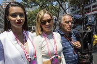 Adriana Lima, Model; Carmen Jorda, Renault Sport F1 Team, Entwicklungsfahrerin; Giorgio Piola, Formel-1-Technikexperte