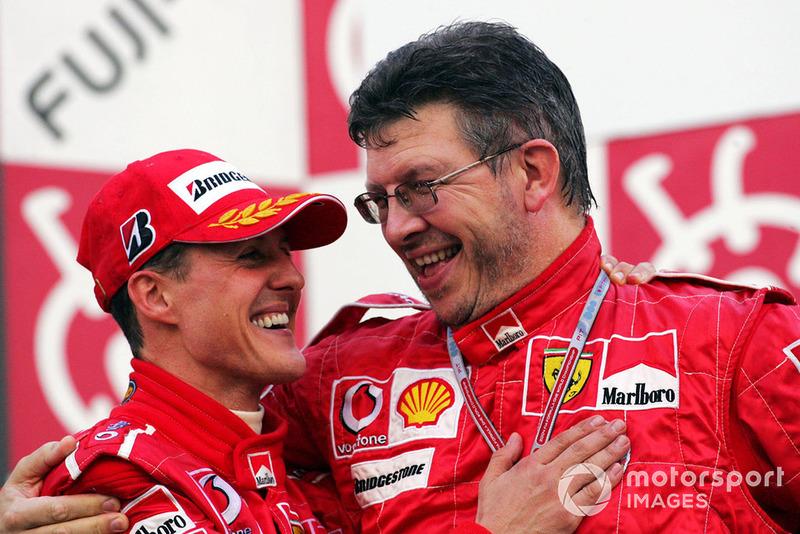 Міхаель Шумахер і Росс Браун, технічний директор Ferrari