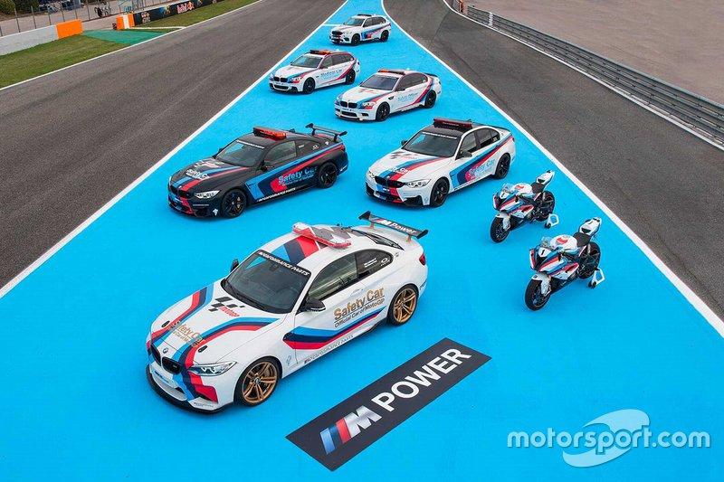 Deretan kendaraan pendukung BMW di MotoGP