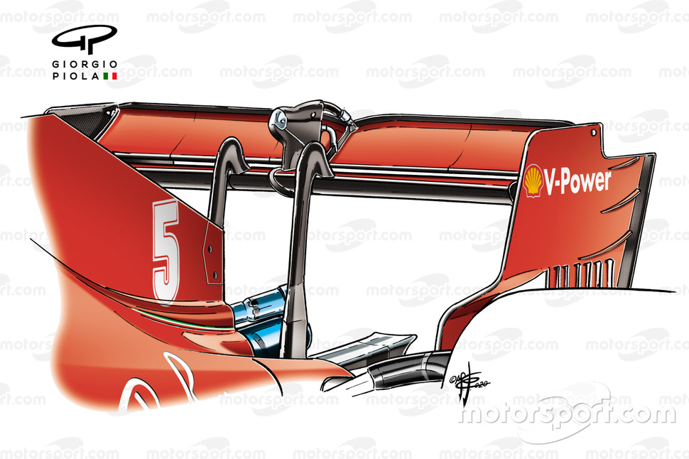 Ferrari SF1000 rear wing detail British GP