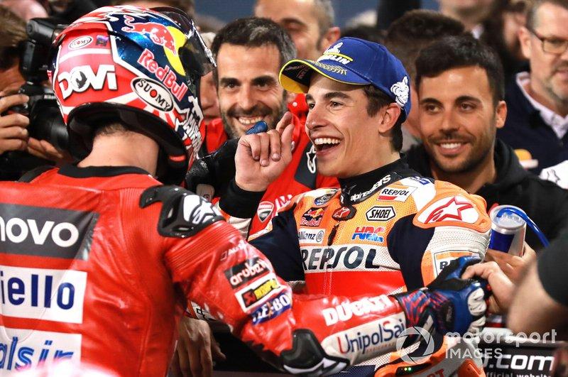 Андреа Довіціозо, Ducati Team, Марк Маркес, Repsol Honda Team, після фінішу гонки