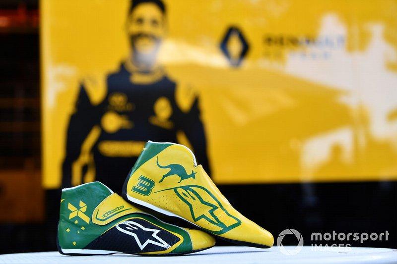 Le scarpe di Daniel Ricciardo, Renault F1 Team