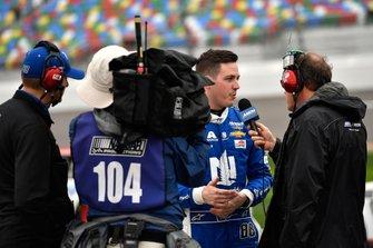 Alex Bowman, Hendrick Motorsports, Chevrolet Camaro Nationwide does an interview
