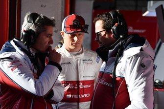 Xevi Pujolar,Alfa Romeo Racing Head of Track Engineering and Kimi Raikkonen, Alfa Romeo Racing