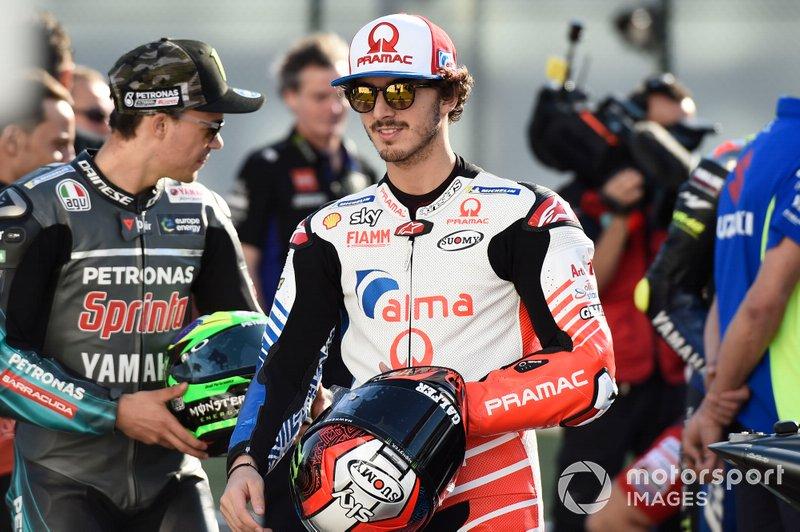 Franco Morbidelli, Petronas Yamaha SRT, Valentino Rossi, Yamaha Factory Racing, Francesco Bagnaia, Pramac Racing