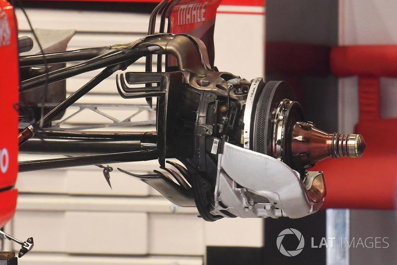 Ferrari SF71H rear wheel hub and brake detail
