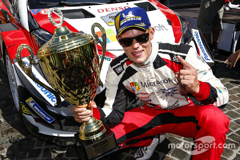 Ganador Ott Tanak, Toyota Yaris WRC, Toyota Gazoo Racing