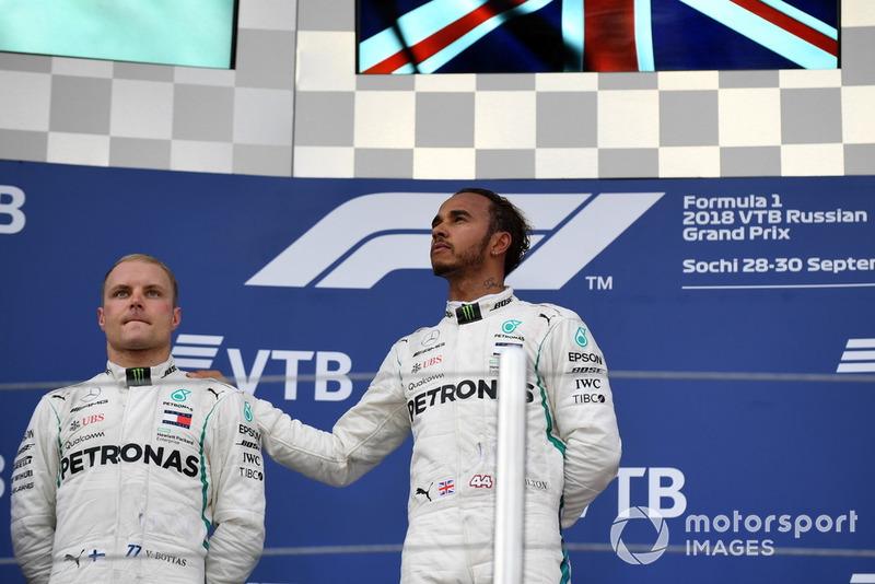 Lewis Hamilton, Mercedes AMG F1 ve Valtteri Bottas, Mercedes AMG F1