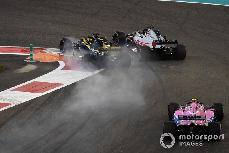 Nico Hulkenberg, Renault Sport F1 Team R.S. 18 y Romain Grosjean, Haas F1 Team VF-18