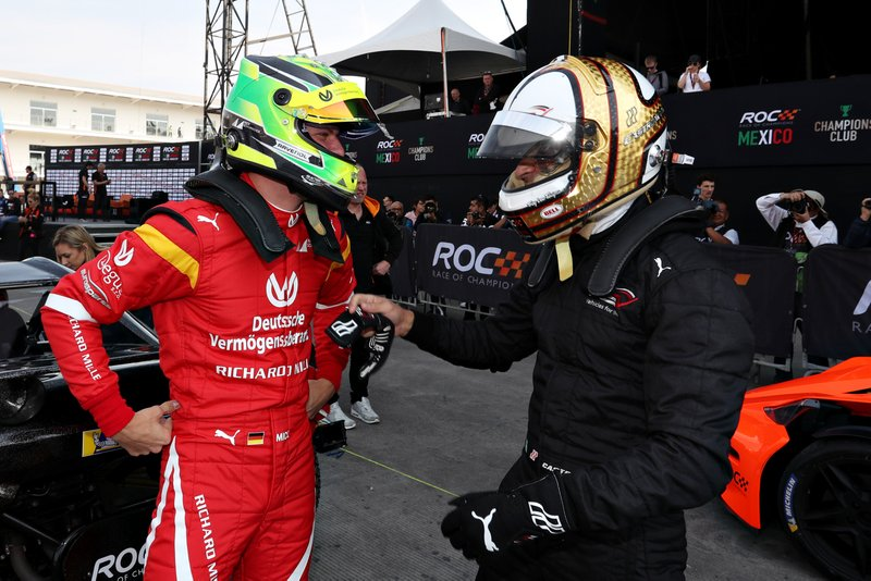 Mick Schumacher and Helio Castroneves