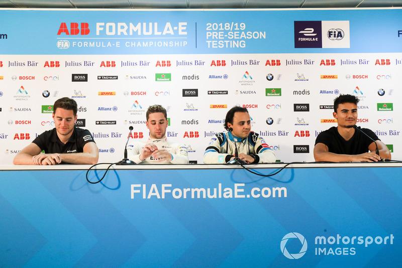 Konferensi pers: Stoffel Vandoorne, HWA Racelab,Robin Frijns, Envision Virgin Racing, Felipe Massa, Venturi Formula E