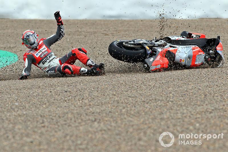 Аварія Мікеле Пірро, Ducati team