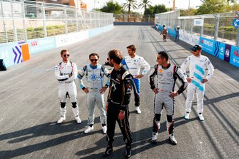 Jean-Eric Vergne, DS TECHEETAH, Felipe Massa, Venturi Formula E, Sébastien Buemi, Nissan e.Dams, Antonio Felix da Costa, BMW I Andretti Motorsports, Stoffel Vandoorne, HWA Racelab, pose for a photo on the grid
