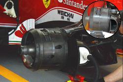 Ferrari SF16-H vergelijking voorrem