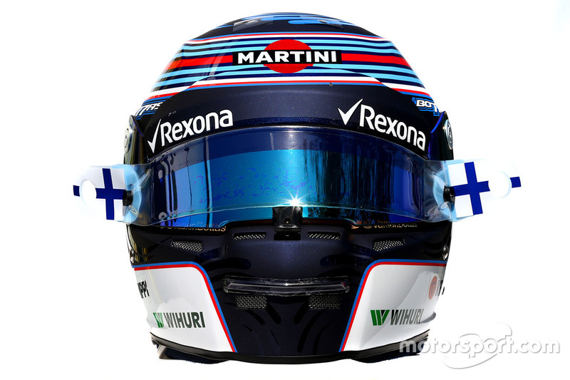 El casco de Valtteri Bottas, Williams