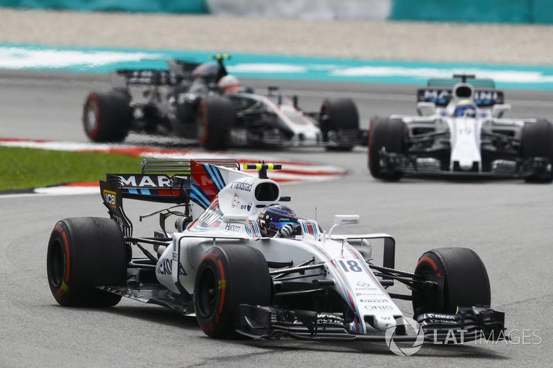 Ленс Стролл, Феліпе Масса, Williams FW40, Кевін Магнуссен, Haas F1 Team VF-17