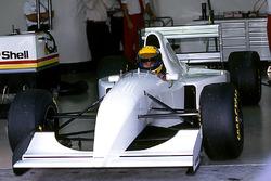 Ayrton Senna, McLaren MP4/8 fitted with a Chrysler/Lamborghini V12 engine