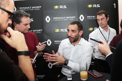 Cyril Abiteboul, Renault Sport F1 Managing Director with the media
