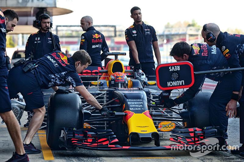 Макс Ферстаппен, Red Bull Racing RB13 із випробувальним обладнанням