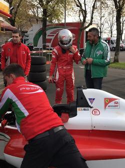 David Vidales en la Ferrari Driver Academy