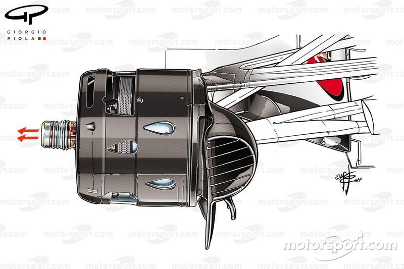 Ferrari SF70H: Angeblasene Achse