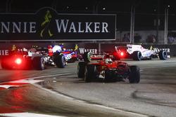 Sebastian Vettel, Ferrari SF70H loses the nose of his car after a collision