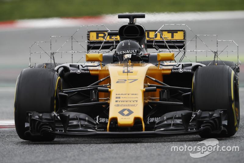Nico Hulkenberg, Renault Sport F1 Team RS17, paneles con sensores