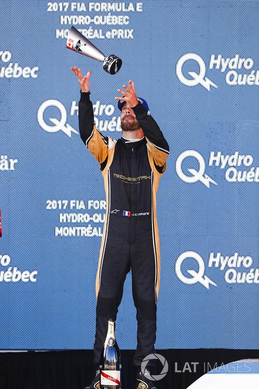 Jean-Eric Vergne, Techeetah celebra en el podio
