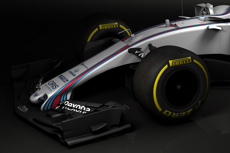 Williams FW40 front wing detail