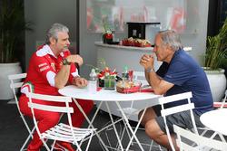 Giorgio Piola with Maurizio Arrivabene, Ferrari Team Principal