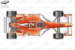 Ferrari F2003GA top view