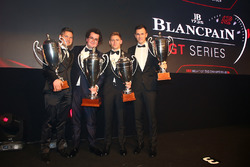 2016 Sprint Cup Overall Drivers, Enzo Ide, champion, Christopher Mies, 2nd place, Dominik Baumann, Maximilian Buhk, 3rd place