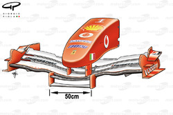 Ferrari F2004M (655) 2005 front wing and nose