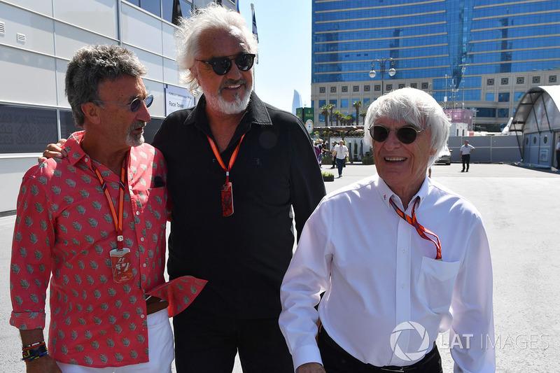 Eddie Jordan, Channel 4 F1 TV, Flavio Briatore, Bernie Ecclestone