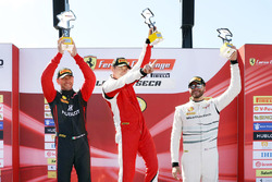 Trofeo Pirelli podium: winner Peter Ludwig, second place Martin Fuentes, third place Cooper MacNeil