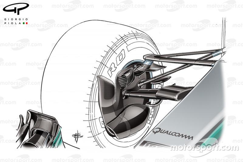 Повітропровід передніх гальм, Mercedes W08