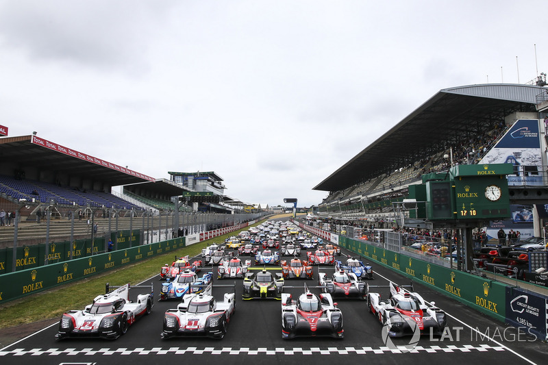 60 mobil peserta yang tersebar di kelas LMP1, LMP2, GTE Pro, dan GTE Am