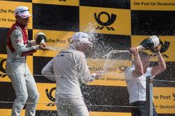 Podium: Loic Duval, Audi Sport Team Phoenix, Audi RS 5 DTM, Marco Wittmann, BMW Team RMG, BMW M4 DTM, Stefan Reinhold, Team principal BMW Team RMG