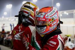 Le poleman Charles Leclerc, PREMA Racing, le deuxième Antonio Fuoco, PREMA Racing