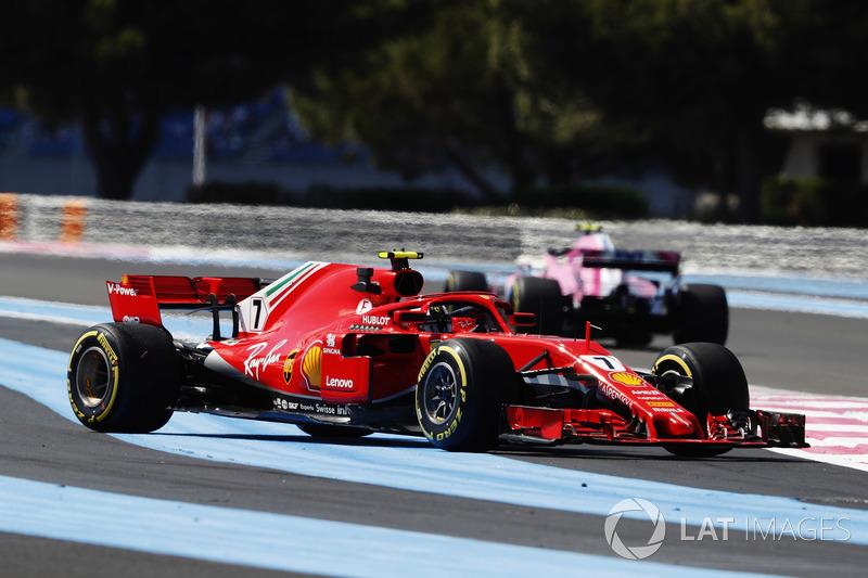 Kimi Raikkonen, Ferrari SF71H, spins