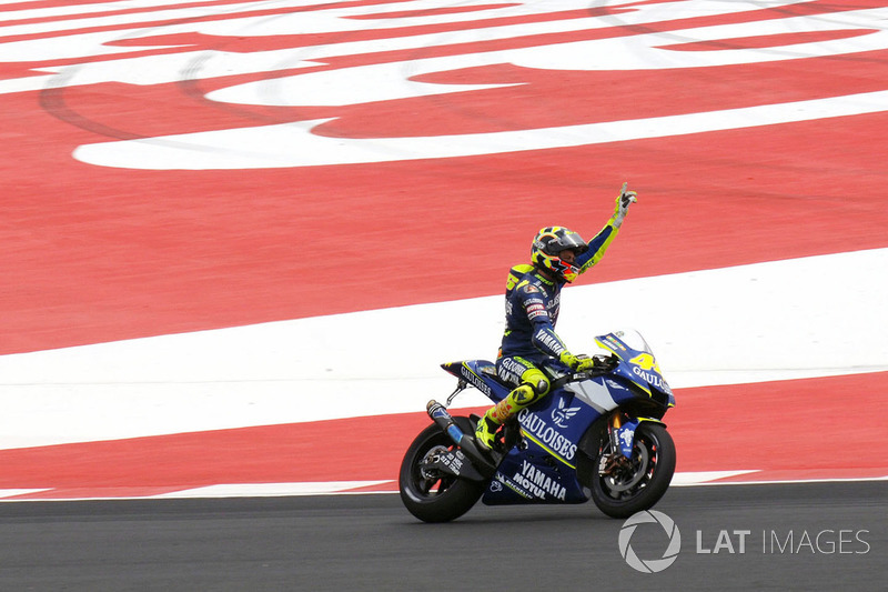 Ganador de la carrera Valentino Rossi