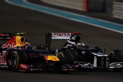 Pastor Maldonado, Williams FW34, en Mark Webber, Red Bull Racing RB8