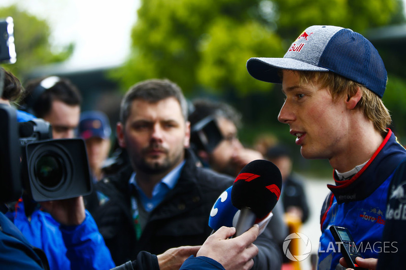 Brendon Hartley, Toro Rosso, gives an interview