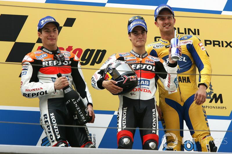 2006: GP de China, primera victoria en MotoGP en su cuarta carrera