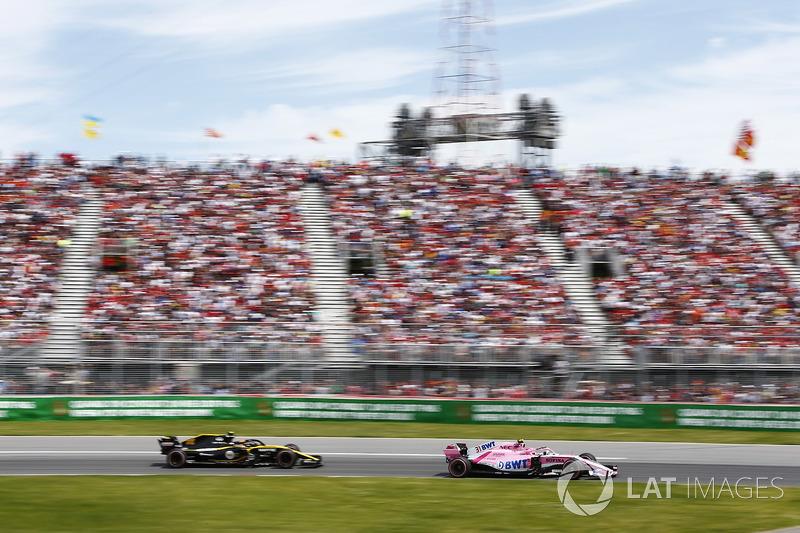 Esteban Ocon memimpin Carlos Sainz Jr.