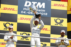 Podium: Race winner Gary Paffett Mercedes-AMG Team HWA, second place Lucas Auer, Mercedes-AMG Team HWA, third place Timo Glock, BMW Team RMG