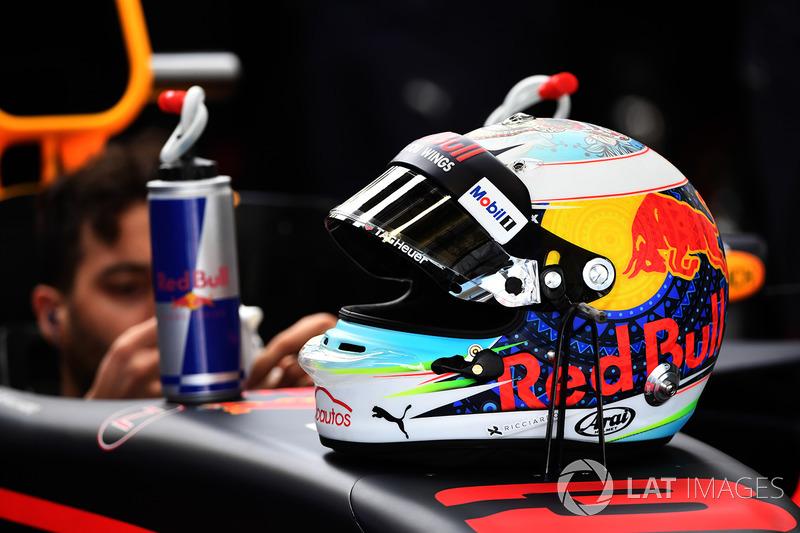 El casco de Daniel Ricciardo, Red Bull Racing