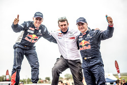 Car winners Carlos Sainz, Lucas Cruz, Peugeot Sport, Bruno Famin