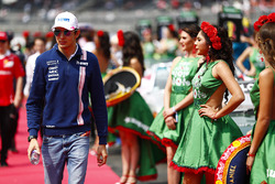 Esteban Ocon, Force India, in the drivers parade