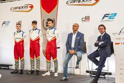 Simo Laaksonen, Leonardo Pulcini, Luca Ghiotto, Campos Racing